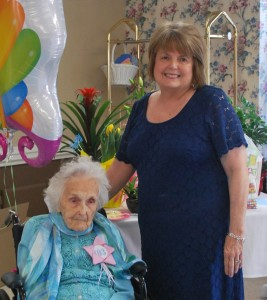 Our Oldest member, Ms. Hazel and her daughter at her 103rd birthday - April 2014